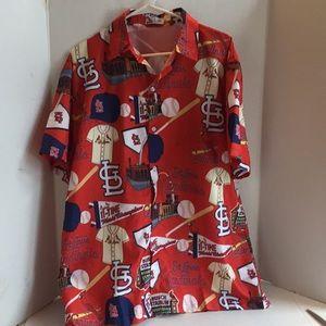 St Louis Cardinals button up shirt XL
